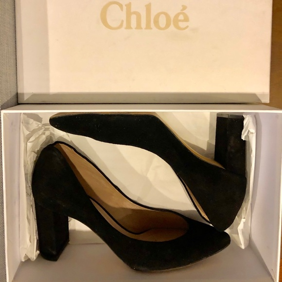 Chloe Shoes   Chlo Black Suede 37 Pump